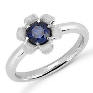 Jewelry - CEYLON SAPPHIRE ring WG 14k Solitaire 1.5 ct round